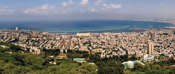 מבט פנורמי על מפרץ חיפה